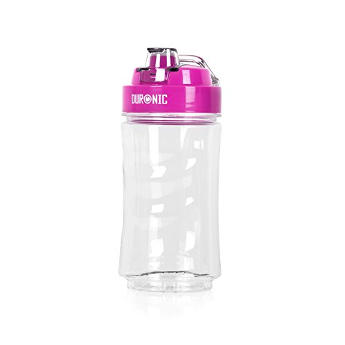 Duronic 400CR/PK claro 400ml sin BPA bebida/botella de agua con ta