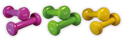 Gymnastik Hanteln | Vinyl | SET | 2 x 0,50 kg | 2 x 0,75 kg | 2 x 1,00 kg
