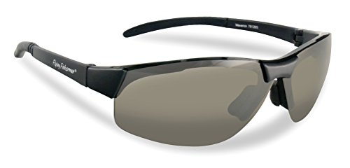 Flying Fisherman Maverick Polarized Sunglasses (Matte Black Frame, Herren, 7812BS, grau (Smoke Lenses), Einheitsgröße