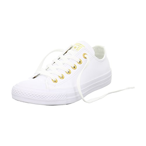 converse-unisex-sneaker-chuck-all-star-ox-low-white-gold-weiss-grosse38