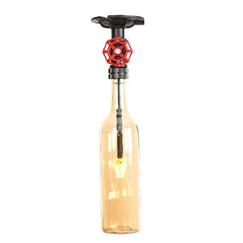 Creativo 1 Cabeza De Vidrio De Color Botella De Vino Araña Con...
