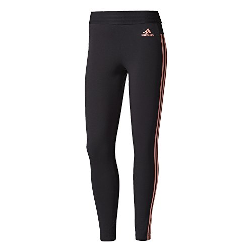 adidas Essentials collants à 3 bandes pour dames. L Black/Tactile Rose