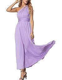 FeelinGirl Damen Elegant Abendkleider Partykleider Ballkleider Festkleider Sommerkleider Cocktailkleid Maxikleid Ärmellos Neckholder