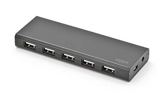 Ednet e85139 hub, 10 porte usb 2.0 alimentato
