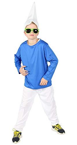 Für Kostüm Jungen Zwerg - Foxxeo Blaues Zwerg Kostüm für Kinde zu Fasching und Karneval Jungen Zwergen Kostüm Größe 140-146