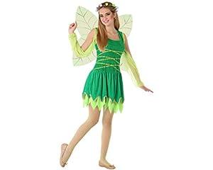 Atosa-61614 Atosa-61614-Disfraz Hada Mujer, Color verde, ADOLESCENTE (61614