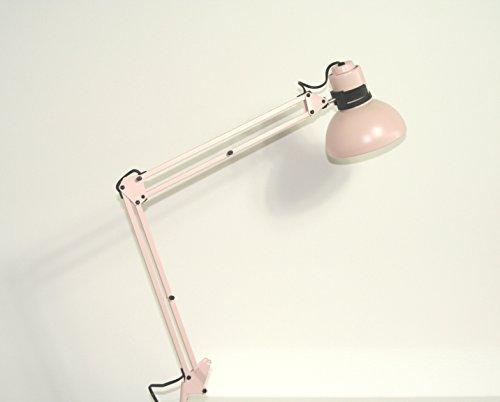 """IKEA Arbeitslampe """"BRAKIG"""" Stahl-Klemmlampe in rosa mit schwarzen Elementen - verstellbar, arretierbar"""