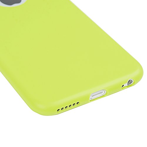 Badalink Coque iPhone 6 6S, Case Housse Étui Bumper Coque TPU Silicone Gel Mat Souple Flexible Ultra Mince Slim Léger Anti Rayure Antichoc Housse Étui iPhone 6 6S Coque Bleu Vert