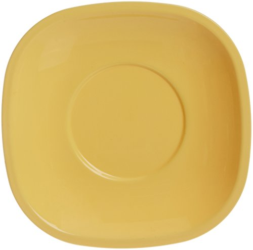 Signoraware Quarter/Snack Plate Set, Set of 6, Lemon Yellow