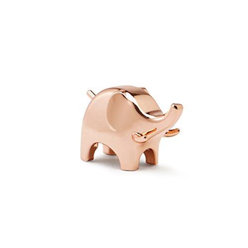 Umbra Anigram Elefanten Ringhalter – Moderne Ringablage, Ideales Gastgeschenk, Metall/Kupfer