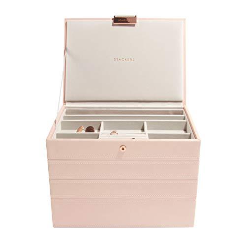 Stackers classico portagioie - set di 4 - rosa cipria