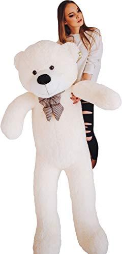 MyTeddyWorld (Weiß 200 cm) Großer Teddybär - Kuschelig Stofftier Riesen Plüschbär - Weiches Spielzeug Geschenk für Kinder - Perfekt für Geburtstag Hochzeit Valentinstag Weihnachten