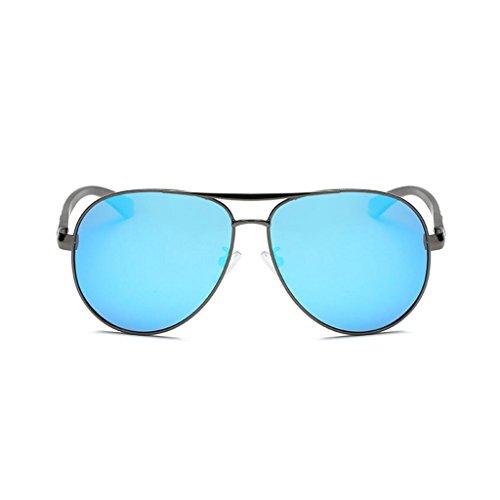 RYRYBH Sonnenbrille Flieger polarisierten Sonnenbrillen Metallrahmen Fahren polarisierte Sonnenbrillen Outdoor-Sportbrillen UV400 Sonnenbrillen Sonnenbrille (Farbe : Blau, größe : One Size)