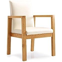 ZEMIN Silla de respaldo de madera maciza multifuncional Sillón de superficie suave Sala de estar, blanco ( Tamaño : 60.8*58*9*91CM )