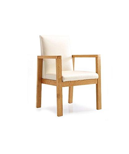 ZEMIN Chaise en Dossier en Bois Massif Multifonctionnel, Fauteuil en Tissu Souple, Blanc (Taille : 60.8 * 58 * 9 * 91CM)
