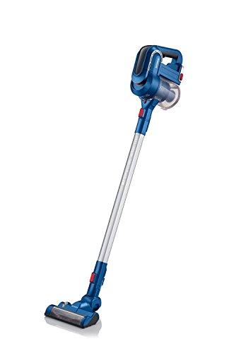 Severin hv 7158 scopa elettrica/aspirapolvere senza filo, standard, blu/argento