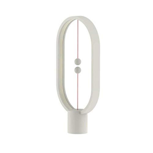 ZQZQ Intelligente Balance Magnetisch Halb Leerer Schalter LED Schreibtischlampe Nach Hause,White