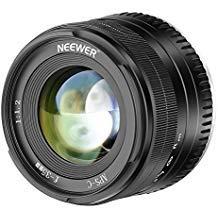 Neewer 35mm F1.2 APS-C Objectif Focale Manuelle Fixe Grande Ouverture en Aluminium pour Fuji Appareil Photo Mirrorless avec Support E X-A1 X-A10 X-A2 X-A3 X-A X-M1 X-M2 X-T1 etc