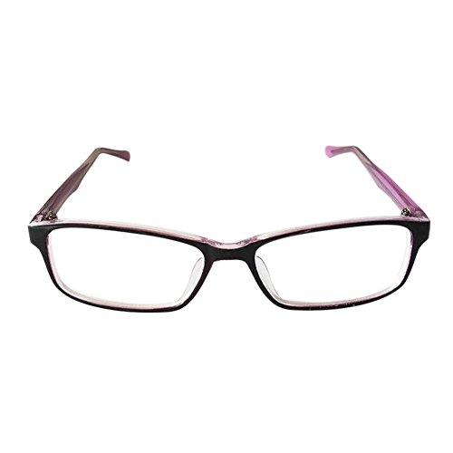 Hzjundasi Frauen Kurzsichtigkeit Myopia Anti-Strahlung Brille Kurzsicht Kurzsichtig Brille Anti-Ermüdung -1.00~-6.00 (Diese sind nicht Lesen Brille) (Frauen Lesen Brille)