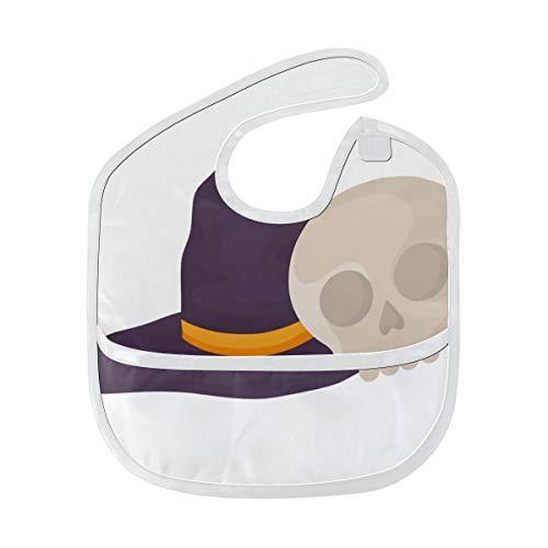 Hexe Hut Entwurfs Halloween Gewohnheit weiches waschbares Fleck und Geruch beständiges Baby das Dribble Sabberlätzchen Lätzchen spuckt Tücher für Säuglingsoverall für 6-24 Monate ()