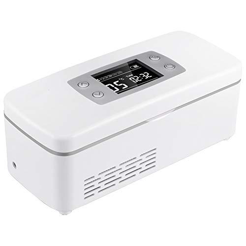XRX Dispositivo di Raffreddamento Portatile per Insulina Frigorifero Termostato per Auto da Viaggio A 2-8 ° C, Adatto per Auto/Viaggi/Aeromobili White
