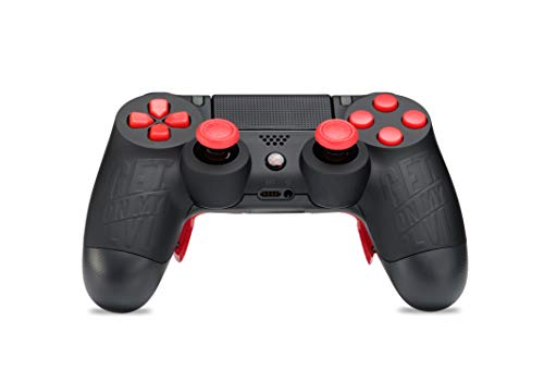 King Controller PS4 Controller mit Curved Paddles und Custom Design GetOnMyLVL - MontanaBlack (schwarz, rot) - DualShock 4 - PlayStation 4 Pro Slim - Wireless PS4-Controller - Custom-ps4-controller