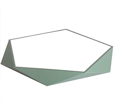 EA-Miao LED-Deckenleuchten, Deckenleuchte Square Geometric Kinderzimmerlampe,Green,A Green Square Platte