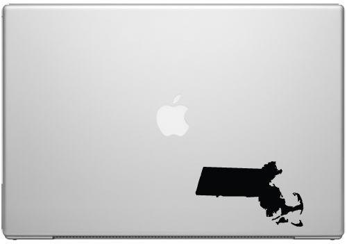Massachusetts Bay State Boston Pride Aufkleber Aufkleber-Schwarz 12,7cm Vinyl Aufkleber für Autos, MacBooks und Andere Laptops