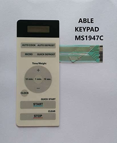 Able MS-1947C Microwave Oven Membrane Keypad