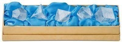 Maulwurf - Geschenke aus der Natur 0503509122 Set platonische Körper Bergkristall klein, in Schachtel