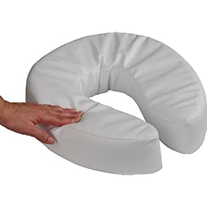 NRS Healthcare Soft Padded Raised Toilet Seat 100 mm (Eligible for VAT Relief in The UK)