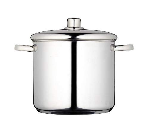 Picture of MasterClass Induction-Safe Stainless Steel Stock Pot With Lid, Silver, 8.5 Litre, 24 cm