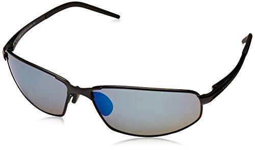 Serengeti 8260 Satin Schwarz Granada Rectangle Sunglasses Polarised Lens Category 3 Lens Mirrored (Serengeti Silhouette)