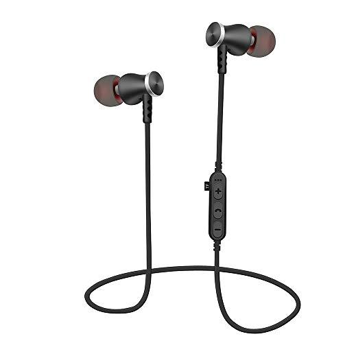 Elospy Bluetooth Sport-Kopfhörer, kabellos Magnetisches Headset, 8-9 Stunden Akkulaufzeit ohrhörer, Wireless Stereo ohrhörer eingebautes Mikrofon, für Fitnessstudio, Training und Jogging