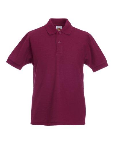 Fruit of the Loom Jungen T-Shirt Ss132b Rot - Burgunderrot