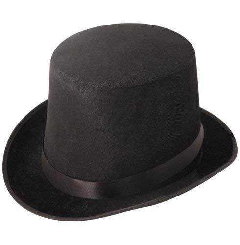 Quickdraw Noir Haut Chapeau Haut-DE-Forme Dur Topper Adulte Magicien Victorien Monsieur Loyal