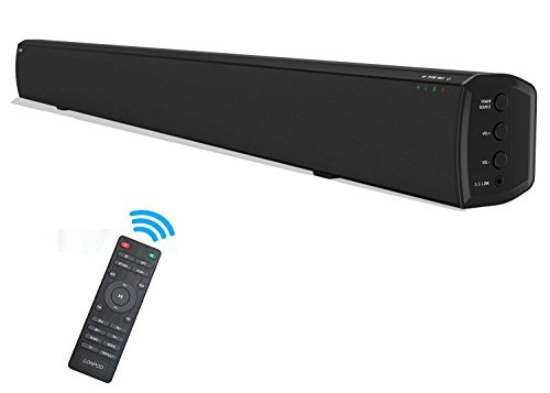 LONPOO 609B 20W*2 Slim TV altavoz soundbar, Bluetooth Barra de sonido cine...