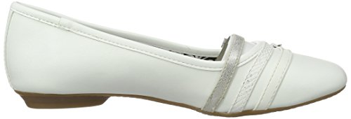 Branco Bailarinas 100 Senhoras Fechada branco 22110 S oliver FZXqRX7