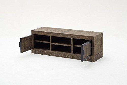 Preisvergleich Produktbild TV-lowboard, TV-Board, TV-Tisch Finca Recycle Kiefer Antik braun lackiert