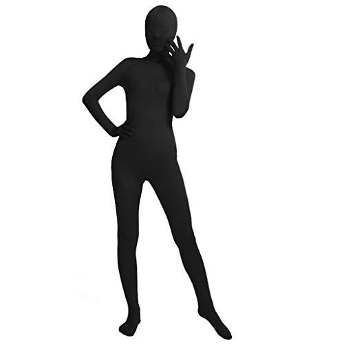 Biaobiaoc Unisex Ganzkörper-Strumpfhosen Anzug Spandex Stretch Schwarz Cosplay Kostüm verschwindender Mann Bodysuit für Halloween Party xl Schwarz (Ganzkörper Spandex Anzug Kostüm Schwarz)