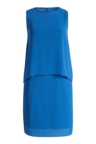 Esprit 026EO1E014 - Robe - Asymétrique - Uni - Sans manche - Femme Bleu (Blue)