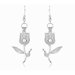 DDLBiZ Jewelry Damen-Ohrringe, 925 Sterlingsilber, Swarovski-Kristalle
