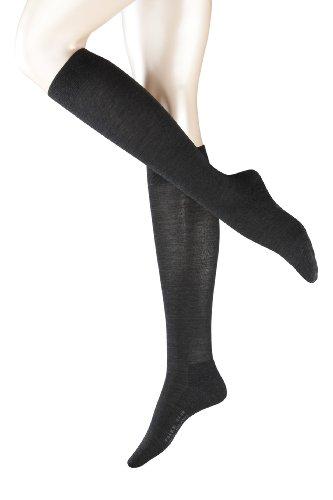 falke kniestruempfe damen FALKE Damen Kniestrumpf 47532 Wool Balance KH, Gr. 39/40, Grau (anthra.mel 3089)
