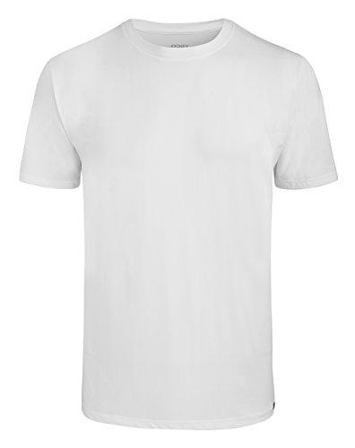 JOCKEY Herren Shirt / Unterhemd Rundhals Single Jersey - Microfiber 2231 - Feinste Microfaser, Farbe Weiss, Schwarz, Gr. S-2XL, Gr. M, Weiss Verkauf Jockey Unterwäsche