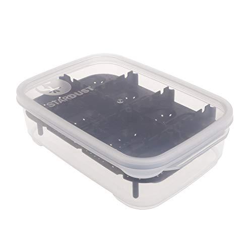 Repti-Egg Inkubator 14 Schlitze Professionelle transparente Abdeckung für Eidechse Schlange Gecko Eier Schlüpfer Schlüpfkiste Kunststoff Zubehör Schwarz