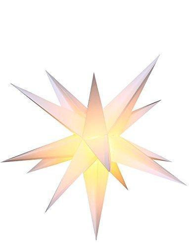 Außenstern Stern wetterfest weiß Kunststoff außen Adventsstern Weihnachtsstern