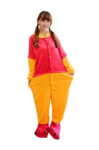 Kostüme Onesies Pyjama Halloween Party Unisex-Adult Onepiece Nachtwäsche Weihnachten (S, Winnie Pooh) ()