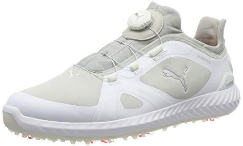 Puma Ignite Pwradapt Disc, Scarpe da Golf Uomo, Bianco White/Gray Violet 01, 43 EU