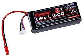 Graupner 7634.3BEC - LiPo-Akku 20C 3/1600 11.1 V BEC, Zubehör