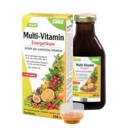 Energetikum Multi-Vitamin Kur-Set 3x250ml (1x tgl.) Natürliche Vitalität mit Vitamin A,B1,B2,B6,E,D3 + natürliches Vitamin C aus der Acerola-Kirsche.VEGAN, Konservierungsstoff-,Alkohol-&Glutenfrei -